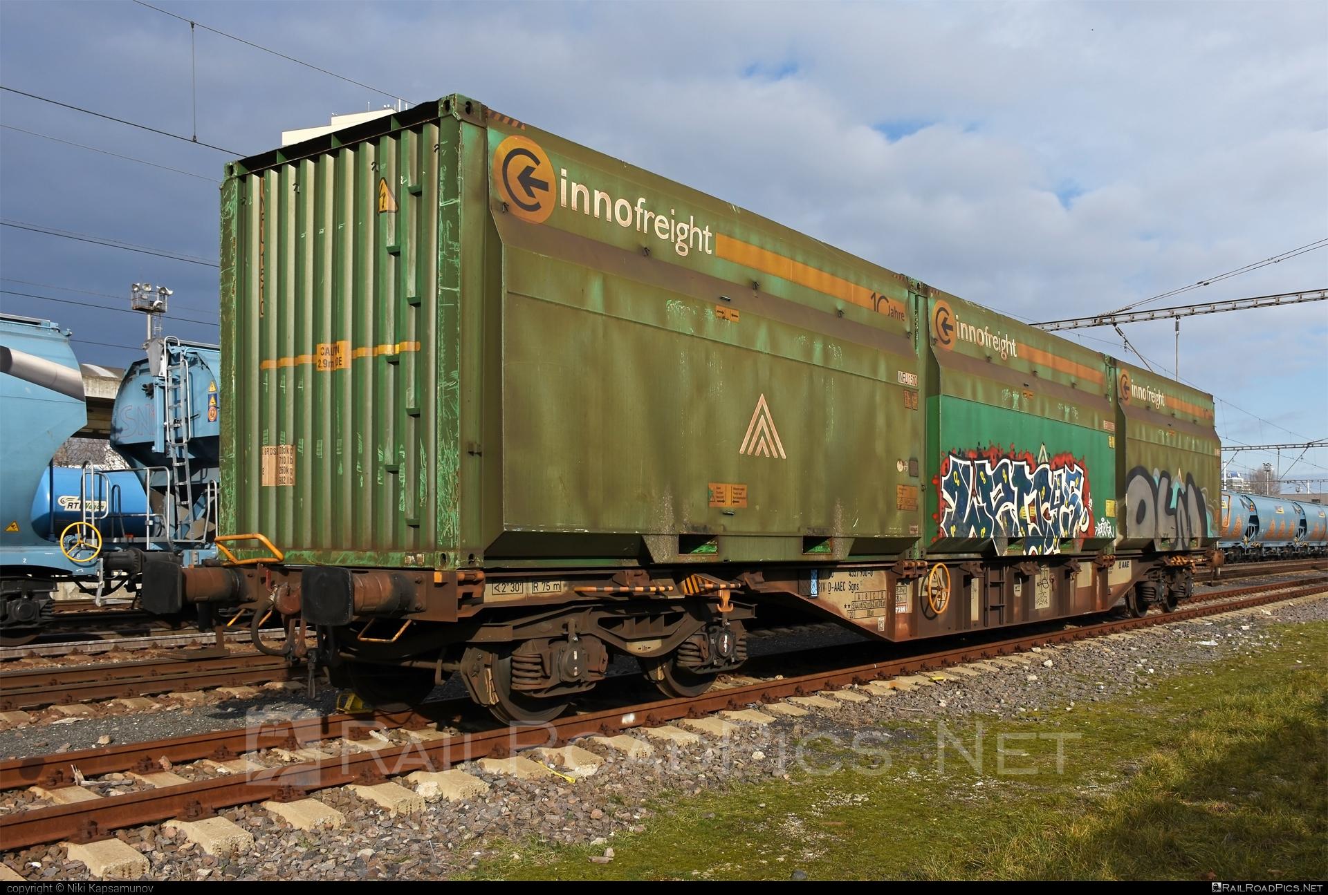 Class S - Sgns - 47 80 4557 900-0 D-AAEC operated by VTG Schweiz GmbH #container #flatwagon #innofreight #sgns #vtg #vtgschweiz