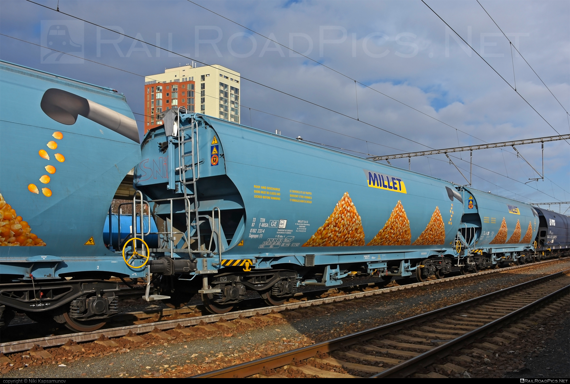 Class T - Tagnpps - 33 87 0762 232-4 F-MISA operated by Millet SAS #hopperwagon #millet #tagnpps