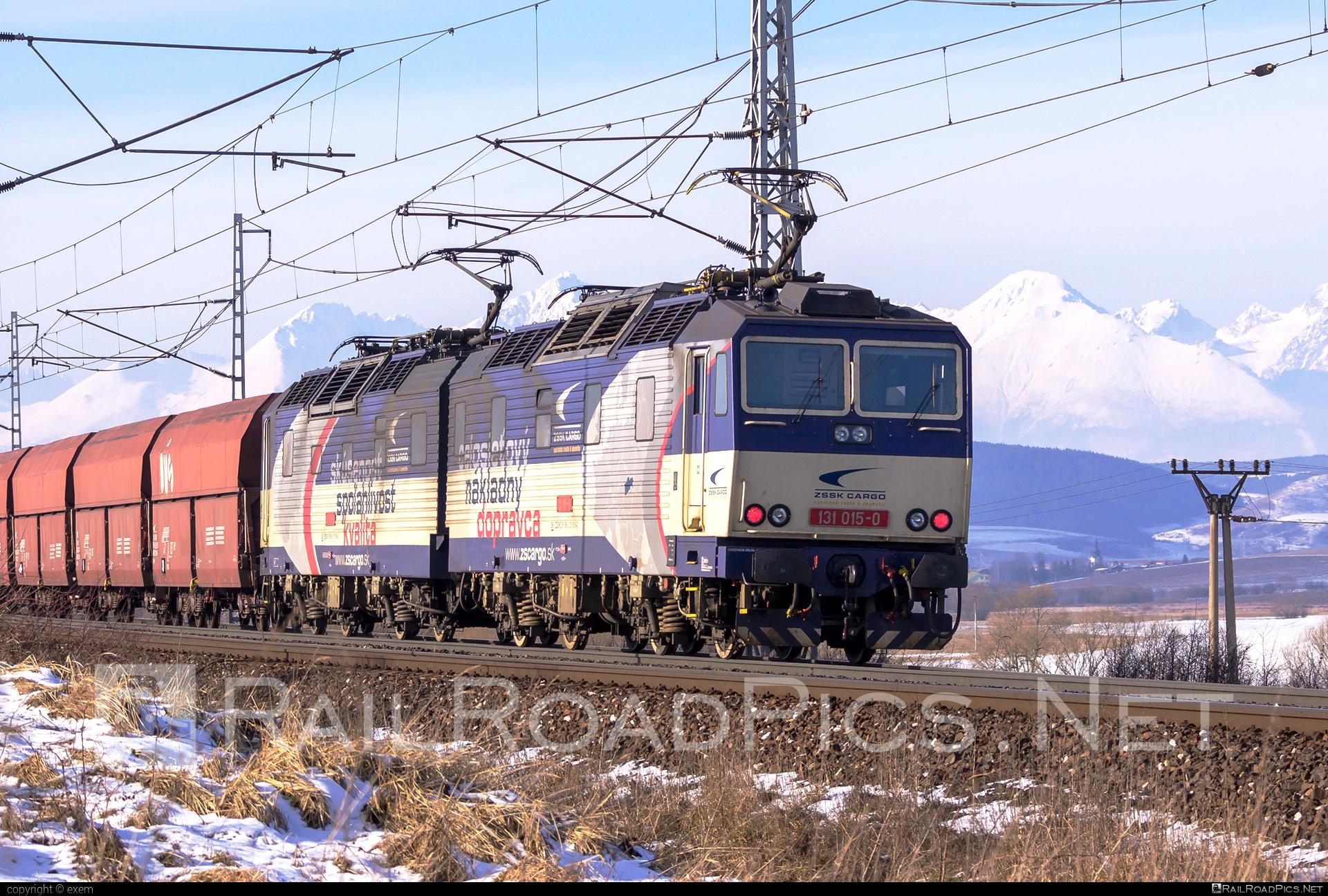 Škoda 58E - 131 015-0 operated by Železničná Spoločnost' Cargo Slovakia a.s. #ZeleznicnaSpolocnostCargoSlovakia #e4791 #hopperwagon #locomotive131 #skoda #skoda58e #zsskcargo