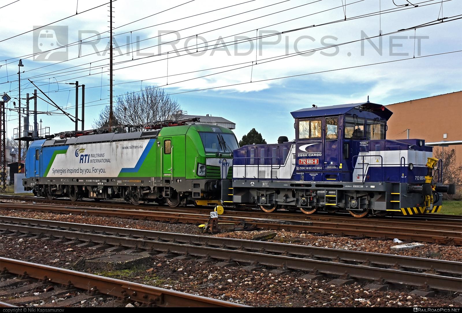 ŽOS Zvolen 712 - 712 680-8 operated by Železničná Spoločnost' Cargo Slovakia a.s. #ZeleznicnaSpolocnostCargoSlovakia #locomotive712 #rti #zoszvolen #zoszvolen712 #zsskcargo