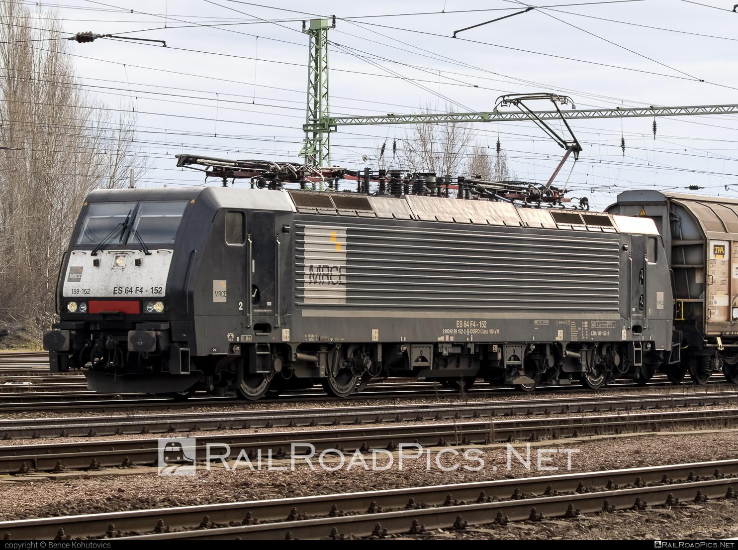 Siemens ES 64 F4 - 189 152-2 operated by Retrack Slovakia s. r. o. #dispolok #es64 #es64f4 #eurosprinter #mitsuirailcapitaleurope #mitsuirailcapitaleuropegmbh #mrce #retrack #retrackslovakia #siemens #siemenses64 #siemenses64f4