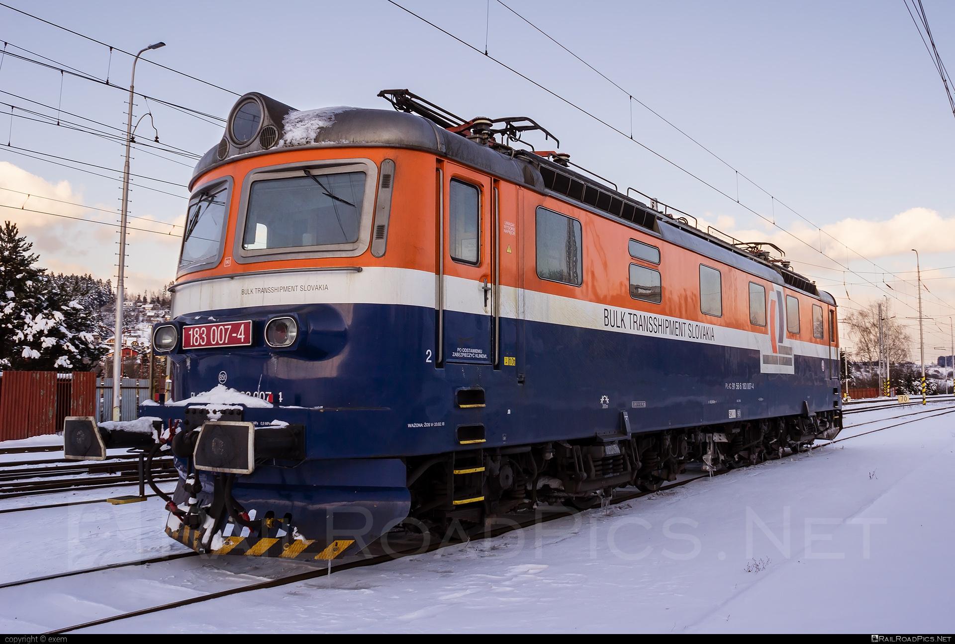 Škoda 61E - 183 007-4 operated by LOKORAIL, a.s. #intercargo #intercargospzoo #locomotive183 #lokorail #lrl #rakana #sestikolak #sestikolo #skoda #skoda61e