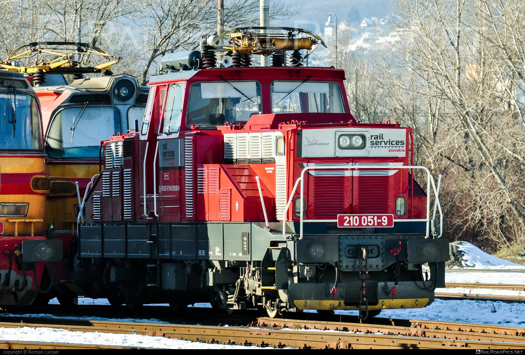 Škoda 51E - 210 051-9 operated by Rail Services Slovakia, s.r.o. #locomotive210 #skoda #skoda51e #zehlicka