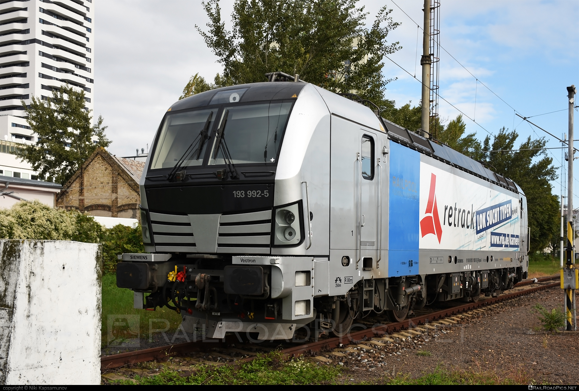 Siemens Vectron AC - 193 992-5 operated by Retrack GmbH & Co. KG #railpool #railpoolgmbh #retrack #retrackgmbh #siemens #siemensvectron #siemensvectronac #vectron #vectronac