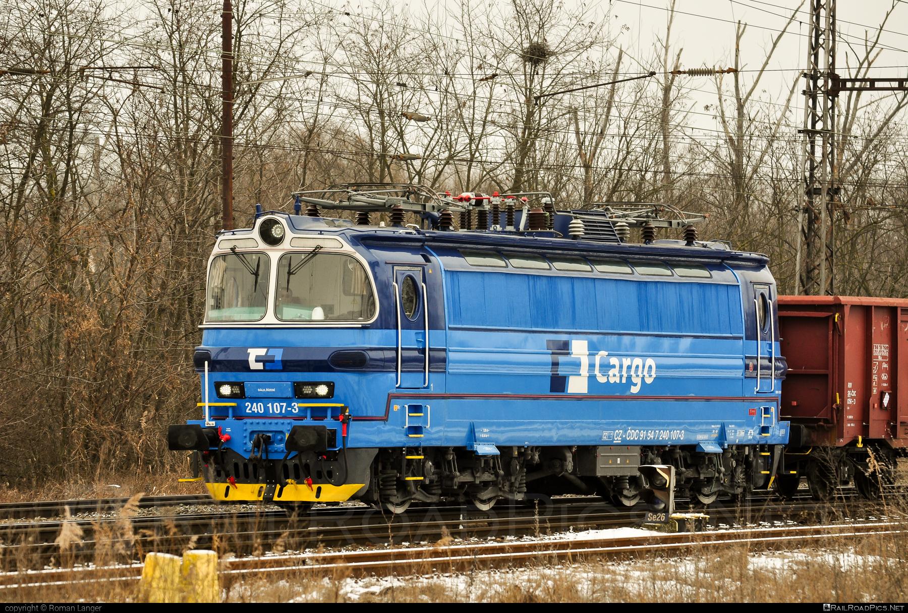 Škoda 47E - 240 107-3 operated by ČD Cargo, a.s. #cdcargo #laminatka #locomotive240 #skoda #skoda47e