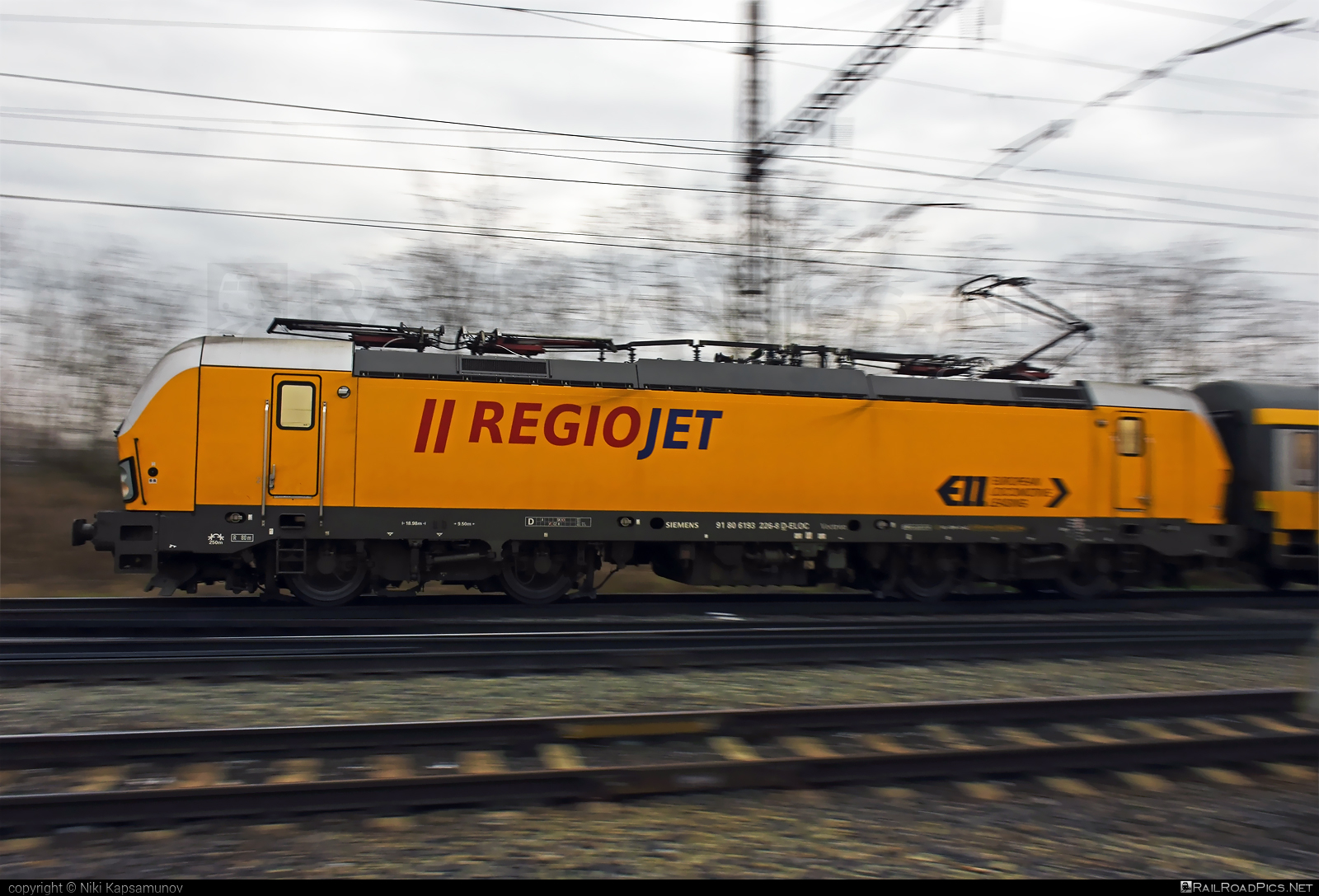 Siemens Vectron MS - 193 226 operated by RegioJet, a.s. #ell #ellgermany #eloc #europeanlocomotiveleasing #regiojet #siemens #siemensvectron #siemensvectronms #vectron #vectronms