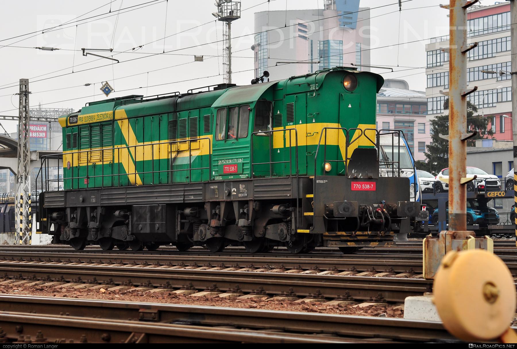 ČKD T 669.0 (770) - 770 538-7 operated by Prvá Slovenská železničná, a.s. #ckd #ckd6690 #ckd770 #ckdt6690 #cmeliak #prvaslovenskazeleznicna #prvaslovenskazeleznicnaas #psz