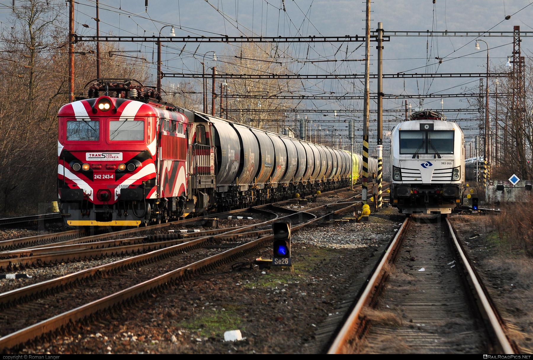 Škoda 73E - 242 243-4 operated by PETROLSPED Slovakia s.r.o. #locomotive242 #petrolsped #plechac #skoda #skoda73e #tlssk #translog #translogslovakia