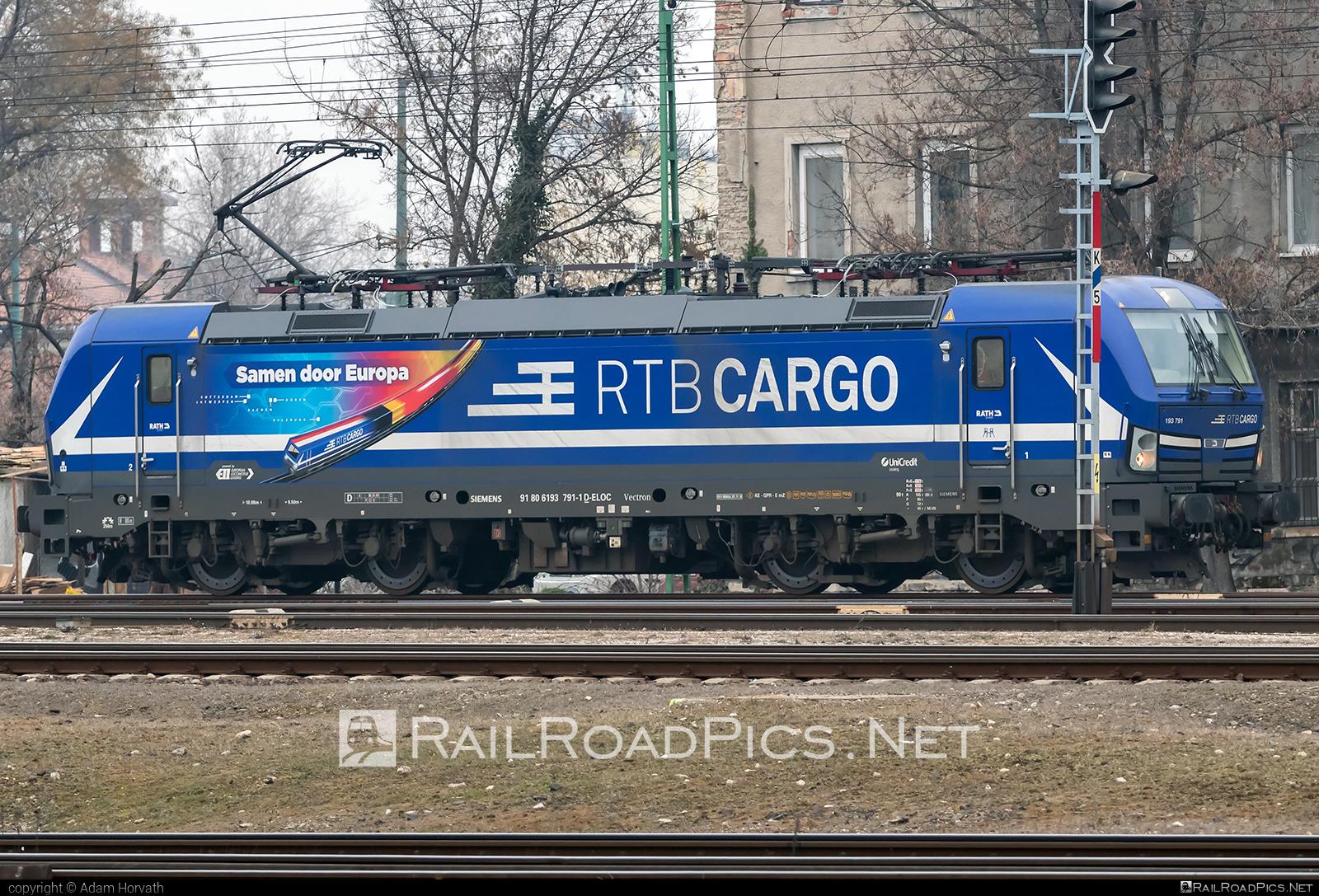 Siemens Vectron MS - 193 791 operated by RTB Cargo GmbH #ell #ellgermany #eloc #europeanlocomotiveleasing #rtb #siemens #siemensvectron #siemensvectronms #vectron #vectronms