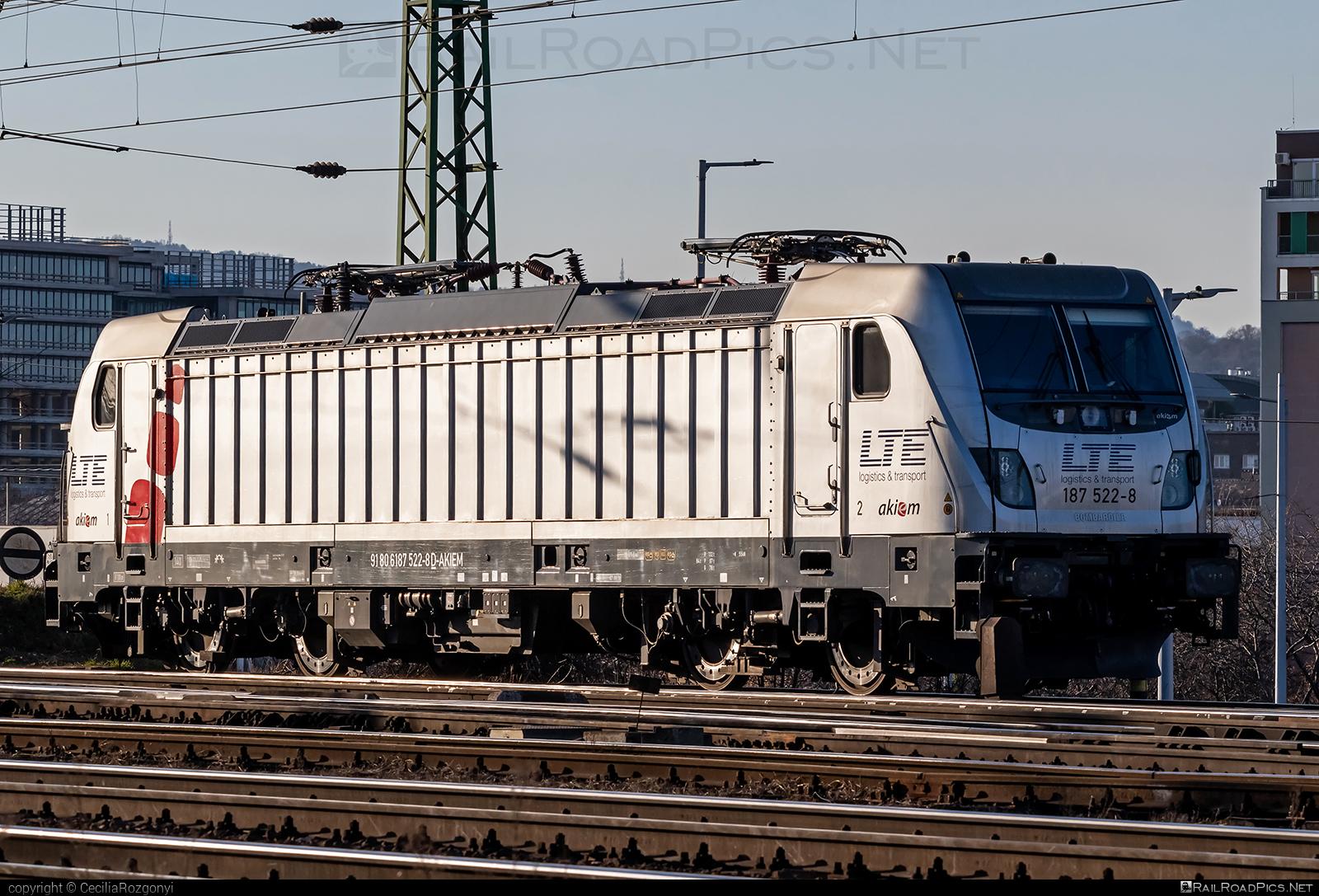 Bombardier TRAXX F140 AC3 - 187 522-8 operated by LTE Hungária Vasúti Árufuvarozó és Logisztikai Kft. #akiem #akiemsas #bombardier #bombardiertraxx #lte #traxx #traxxf140 #traxxf140ac #traxxf140ac3