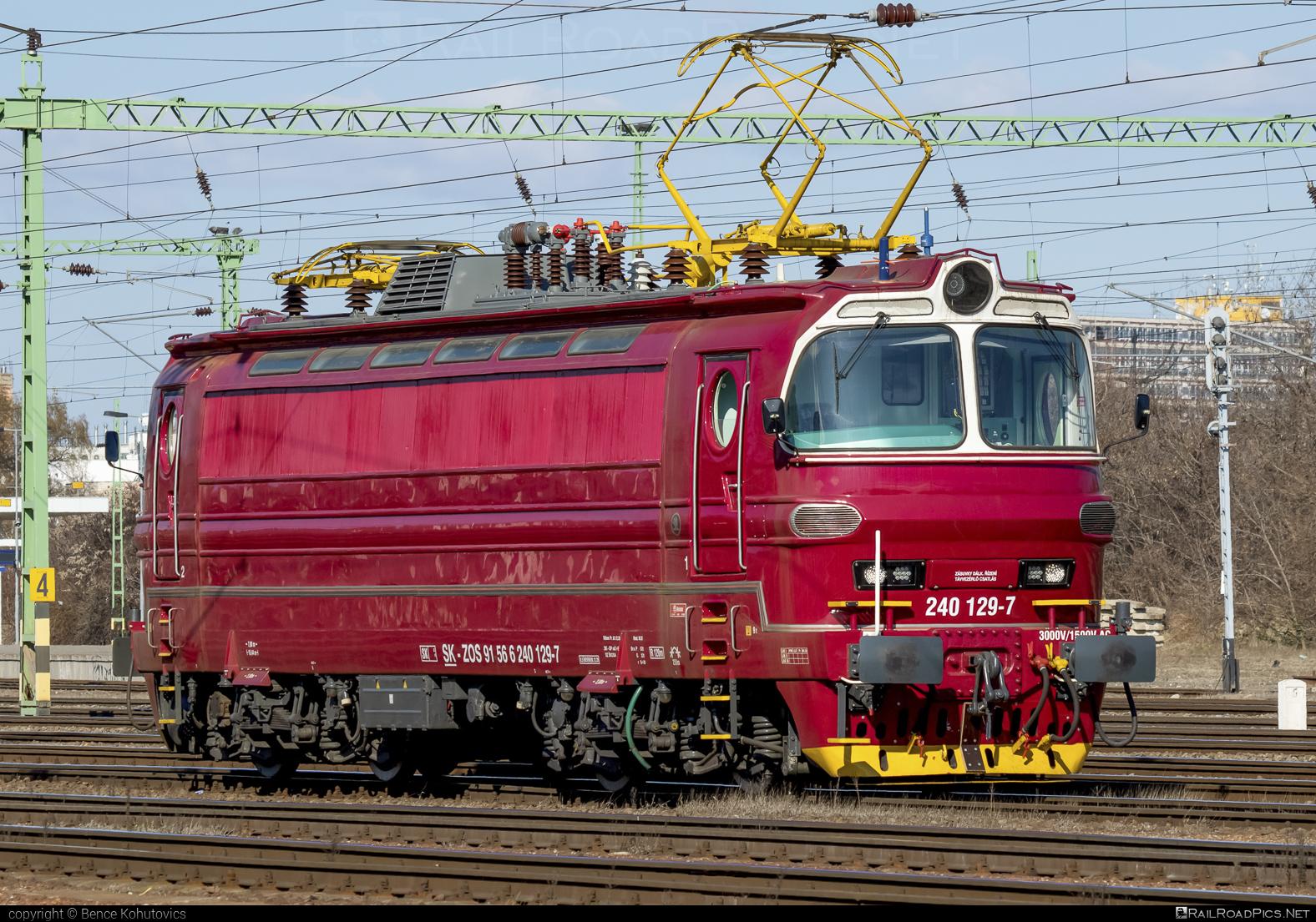 Škoda 47E - 240 129-7 operated by ZOS ZVOLEN s.r.o. #laminatka #locomotive240 #skoda #skoda47e #zos #zoszvolen