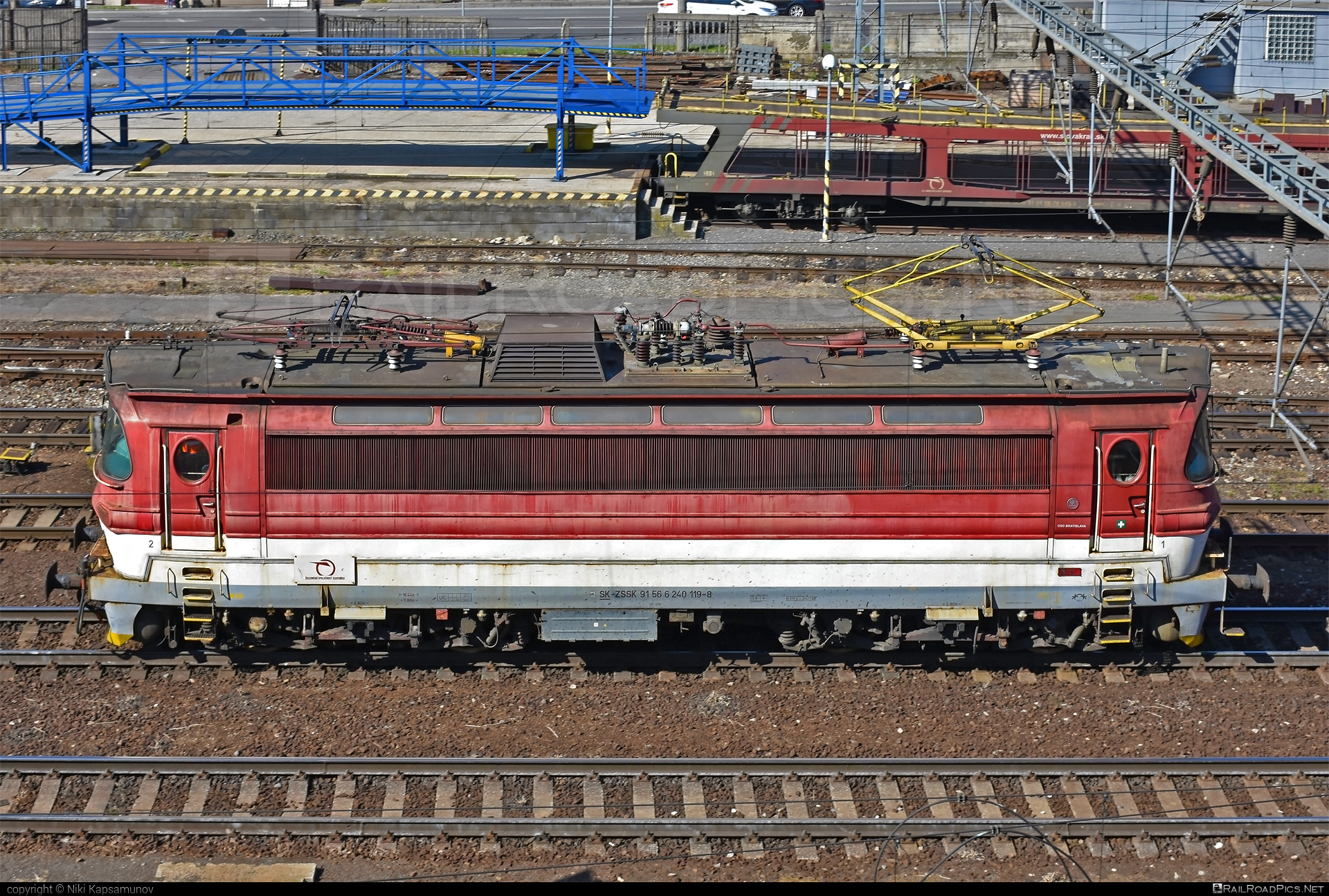 Škoda 47E - 240 119-8 operated by Železničná Spoločnost' Slovensko, a.s. #ZeleznicnaSpolocnostSlovensko #laminatka #locomotive240 #skoda #skoda47e #zssk