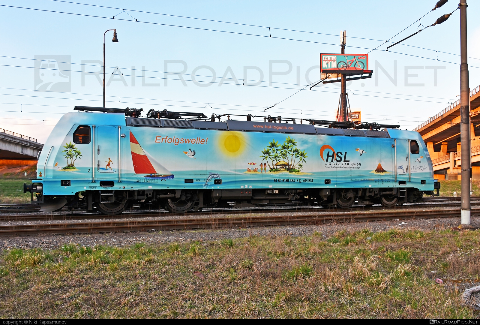 Bombardier TRAXX F140 MS - 186 364-6 operated by LOKORAIL, a.s. #akiem #akiemsas #bombardier #bombardiertraxx #hsl #hsllogistik #lokorail #lrl #traxx #traxxf140 #traxxf140ms