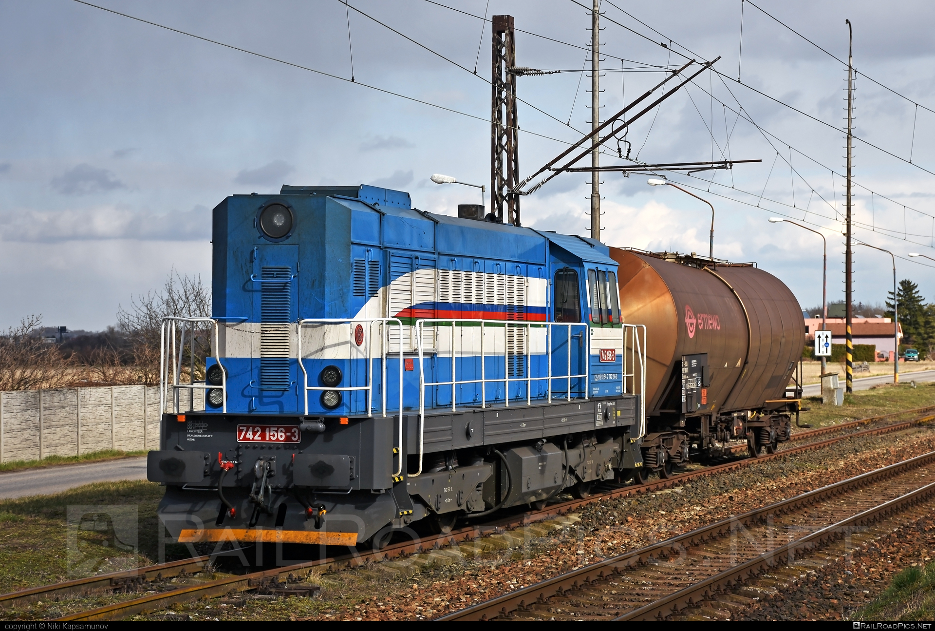 ČKD T 466.2 (742) - 742 156-3 operated by Retrack Slovakia s. r. o. #ckd #ckd4662 #ckd742 #ckdt4662 #kesselwagen #kocur #retrack #retrackslovakia #tankwagon #zoszvolen