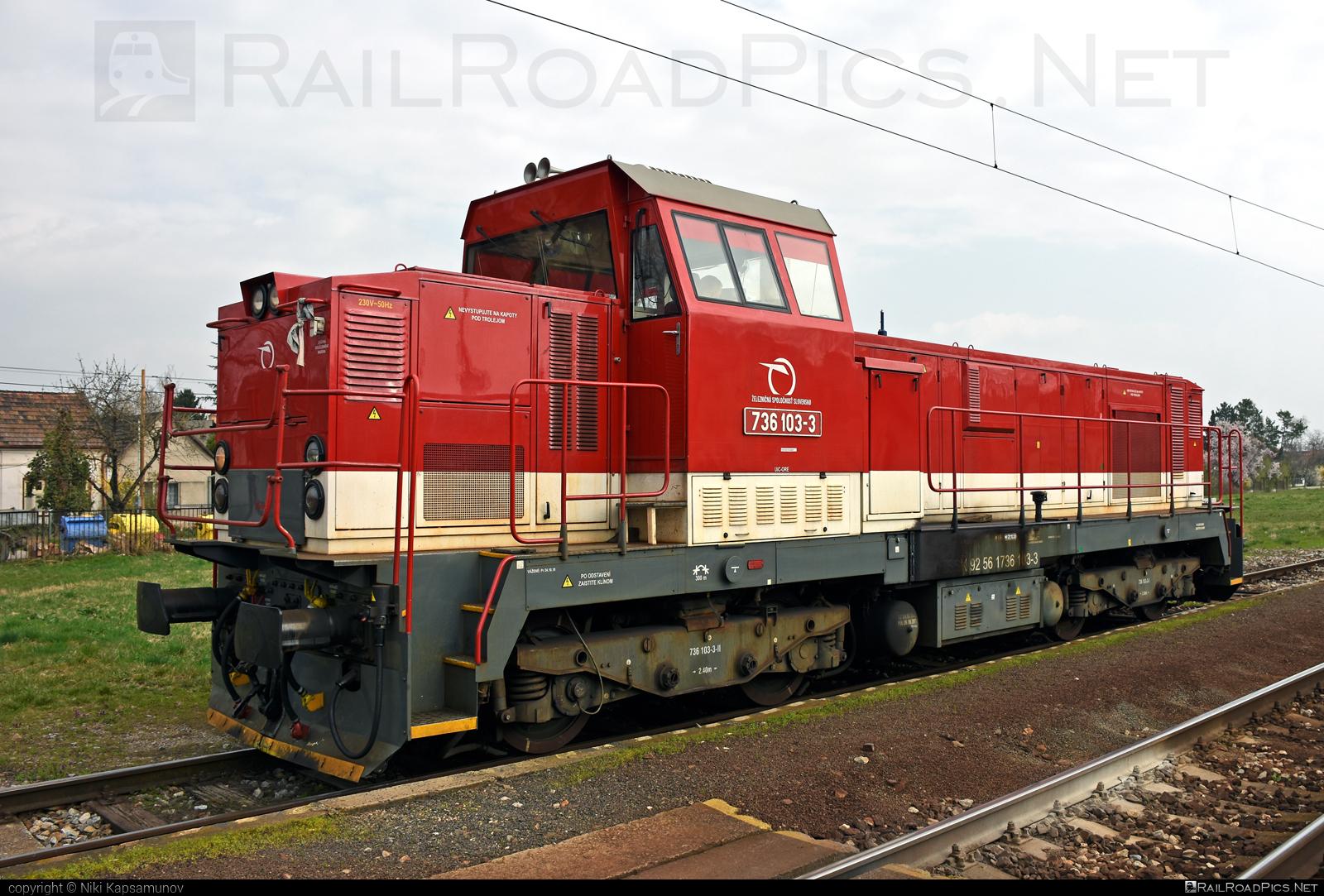ŽOS Zvolen 736 - 736 103-3 operated by Železničná Spoločnost' Slovensko, a.s. #ZeleznicnaSpolocnostSlovensko #locomotive736 #zoszvolen #zoszvolen736 #zssk