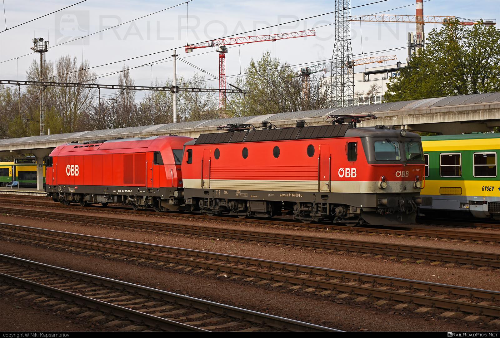 SGP ÖBB Class 1144 - 1144 091 operated by Rail Cargo Austria AG #1144 #hercules #obb #obbclass1144 #osterreichischebundesbahnen #rcw #sgp #sgp1144 #simmeringgrazpauker