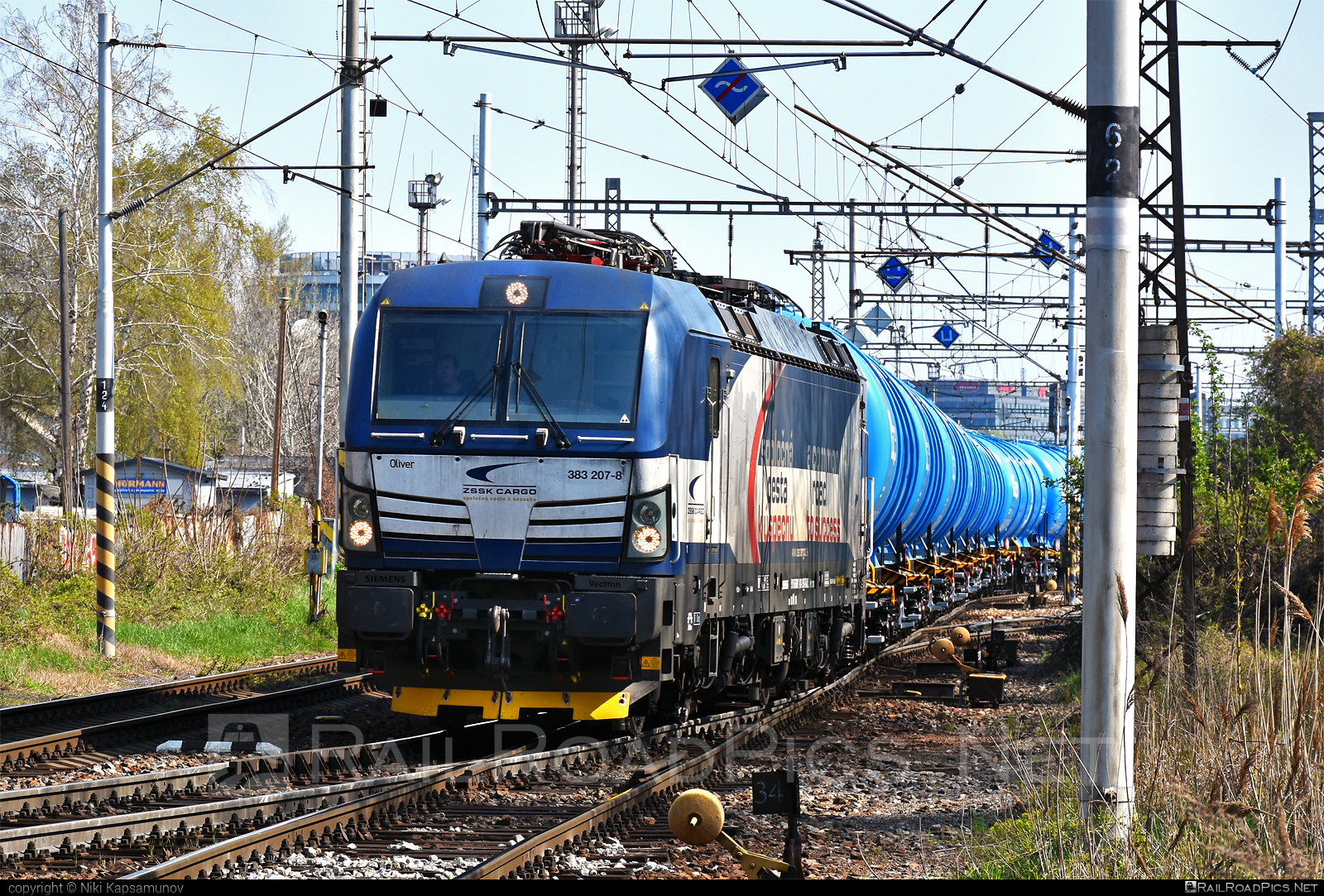 Siemens Vectron MS - 383 207-8 operated by Železničná Spoločnost' Cargo Slovakia a.s. #RollingStockLease #RollingStockLeaseSro #ZeleznicnaSpolocnostCargoSlovakia #kesselwagen #raill #siemens #siemensvectron #siemensvectronms #tankwagon #vectron #vectronms #zsskcargo