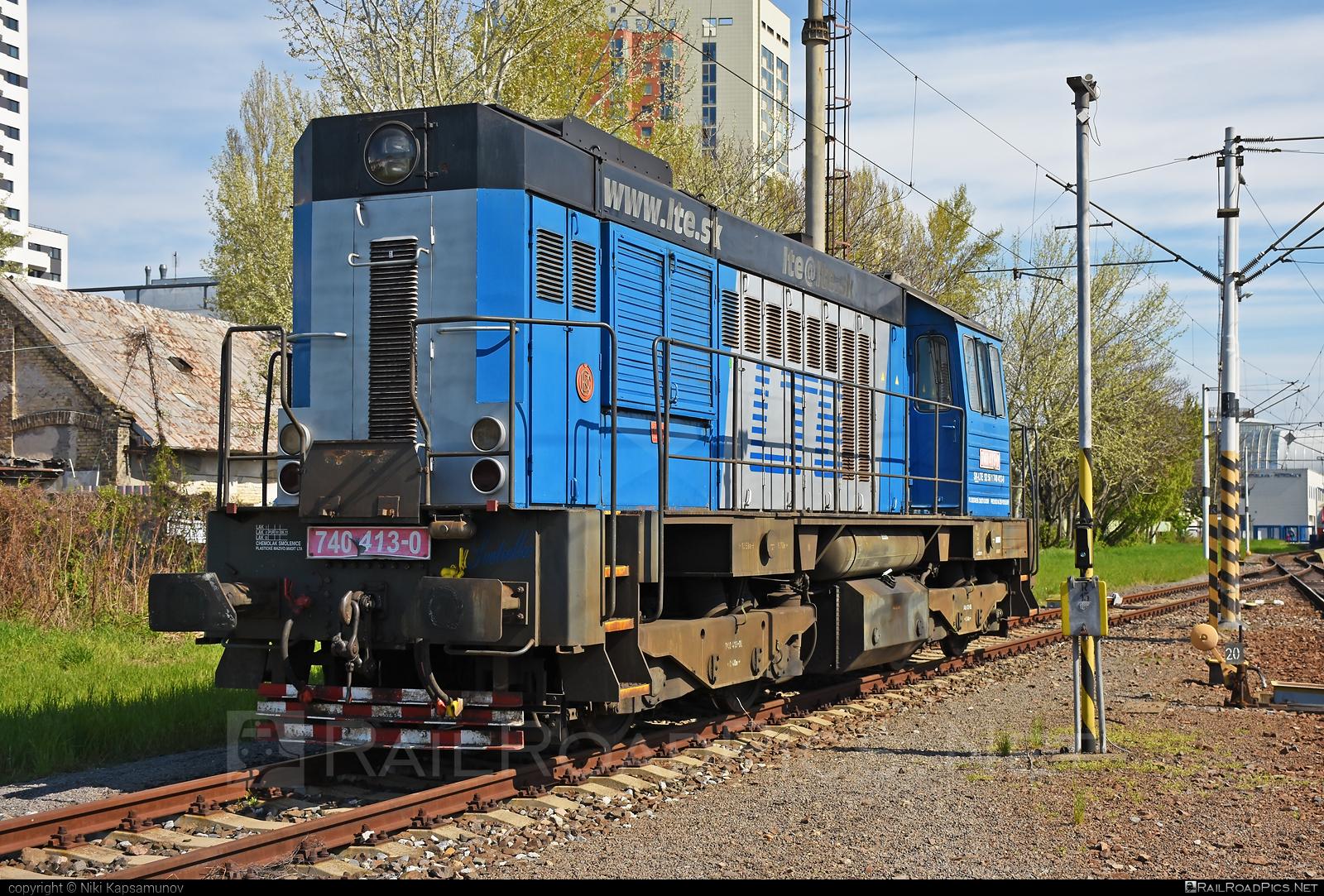 ČKD T 448.0 (740) - 740 413-0 operated by LTE Logistik a Transport Slovakia, s.r.o. #ckd #ckd4480 #ckd740 #ckdt4480 #kocur #lte #ltesk