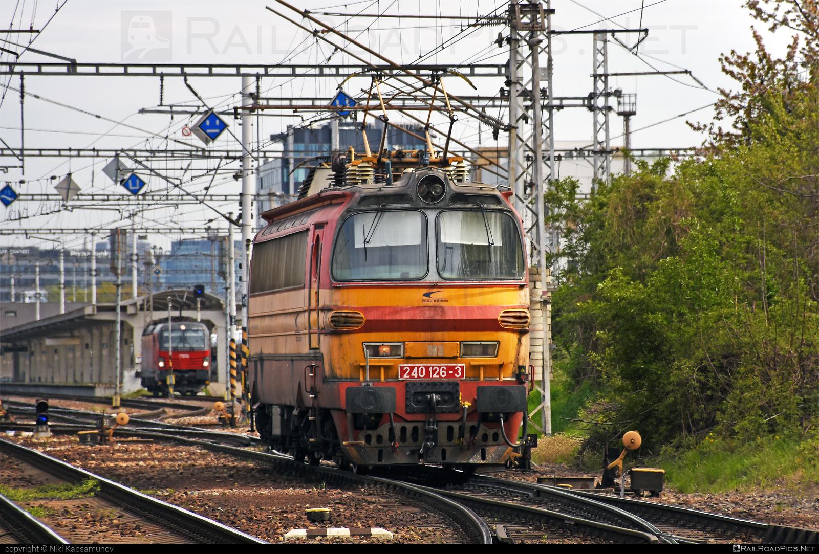 Škoda 47E - 240 126-3 operated by Železničná Spoločnost' Cargo Slovakia a.s. #ZeleznicnaSpolocnostCargoSlovakia #ZeleznicnaSpolocnostSlovensko #laminatka #locomotive240 #skoda #skoda47e #zssk #zsskcargo