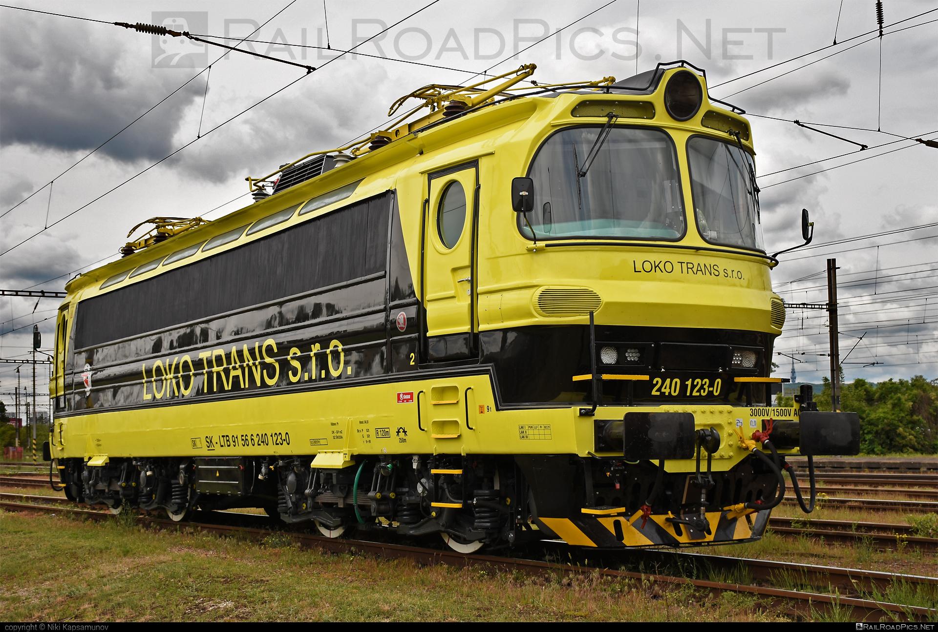 Škoda 47E - 240 123-0 operated by LOKO TRANS s.r.o. #laminatka #locomotive240 #lokotrans #skoda #skoda47e