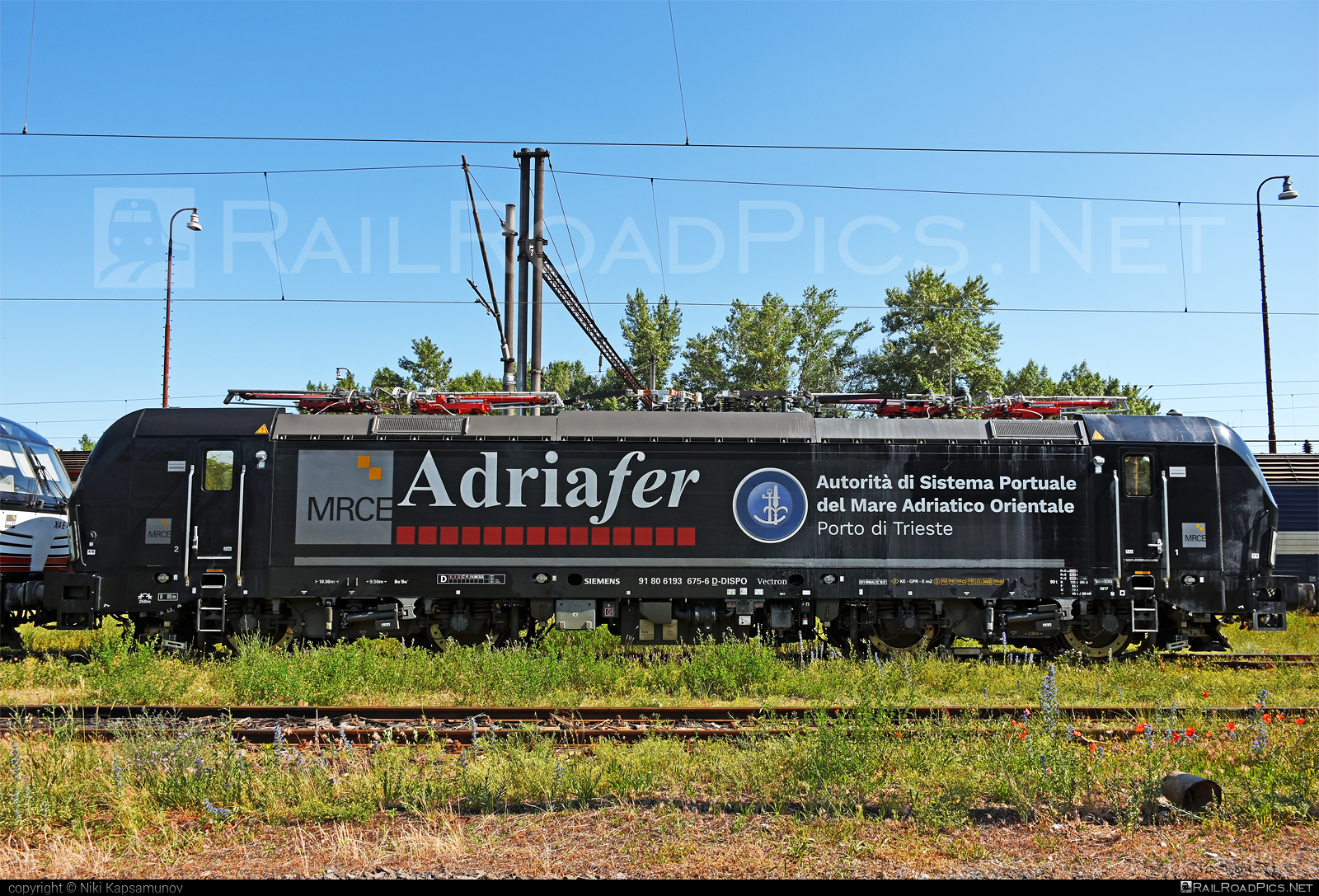Siemens Vectron MS - 193 675-6 operated by ADRIAFER S.R.L. #adriafer #dispolok #mitsuirailcapitaleurope #mitsuirailcapitaleuropegmbh #mrce #siemens #siemensvectron #siemensvectronms #vectron #vectronms