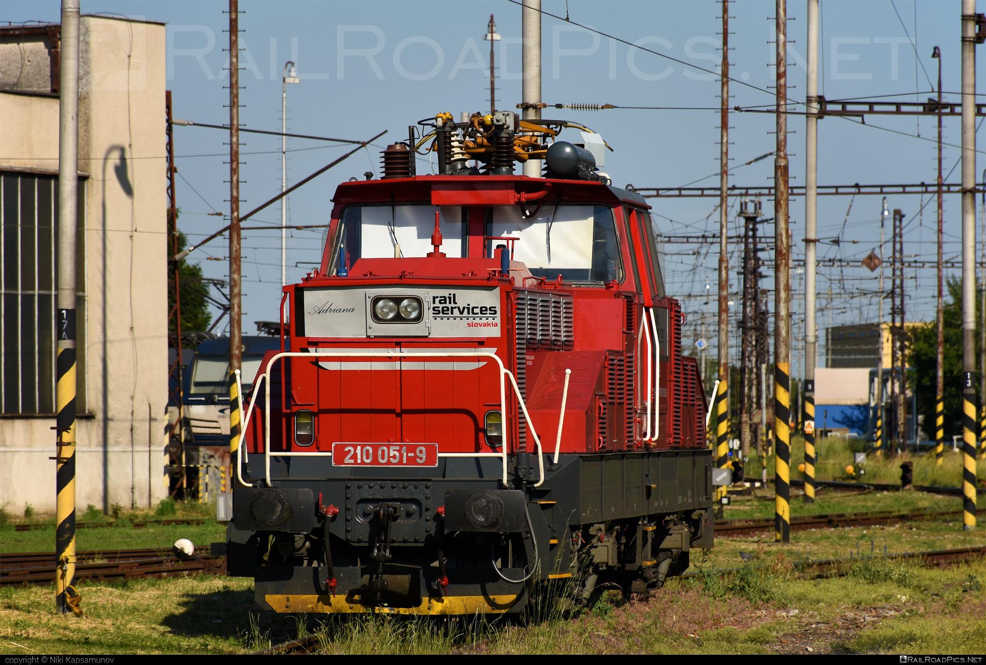 Škoda 51E - 210 051-9 operated by Rail Services Slovakia, s.r.o. #RailServicesSlovakia #locomotive210 #rsssk #skoda #skoda51e #zehlicka