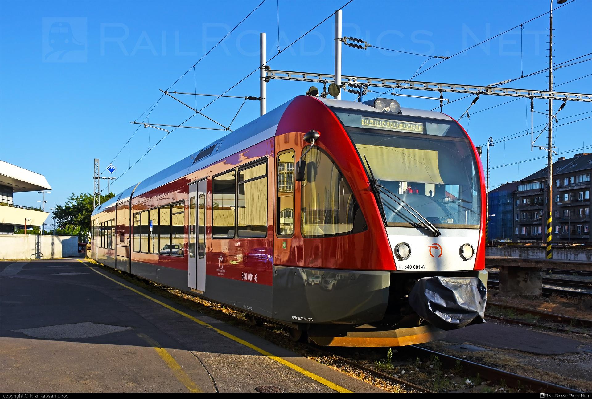 GTW Vysoké Tatry Class 840 - 840 001-6 operated by Železničná Spoločnost' Slovensko, a.s. #ZeleznicnaSpolocnostSlovensko #delfin #gtw26 #gtwvysoketatry #zssk #zssk840
