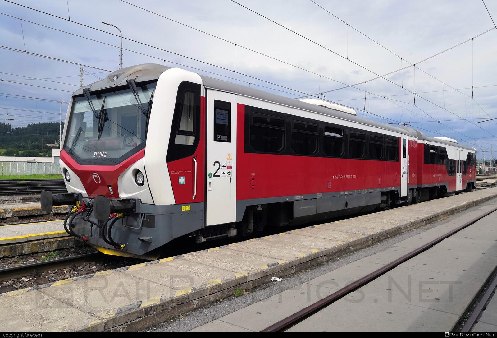 ŽOS Zvolen Class 813.1 - 813 114-0 operated by Železničná Spoločnost' Slovensko, a.s. #ZeleznicnaSpolocnostSlovensko #mravec #zoszvolen #zoszvolen8131 #zssk
