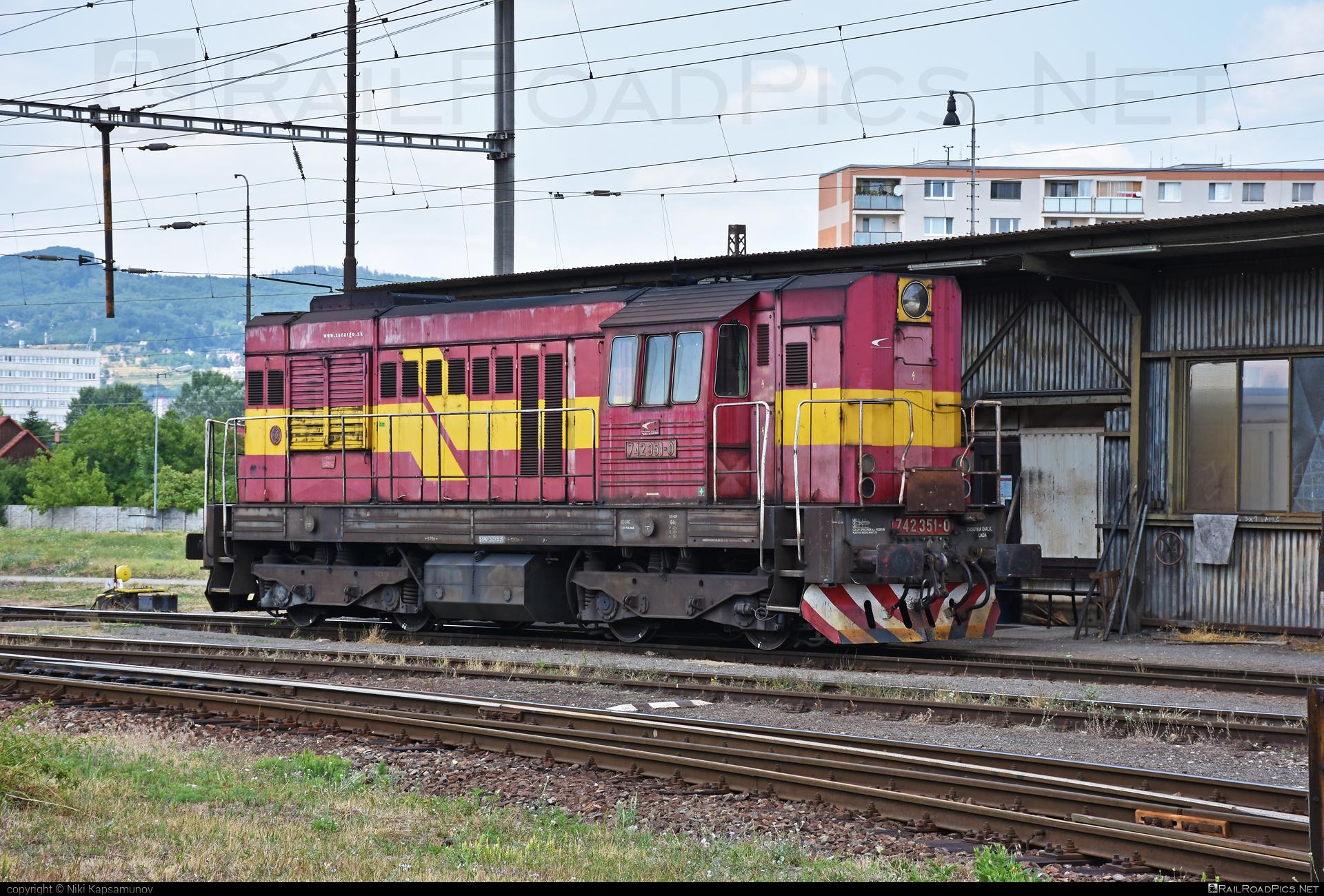 ČKD T 466.2 (742) - 742 351-0 operated by Železničná Spoločnost' Cargo Slovakia a.s. #ZeleznicnaSpolocnostCargoSlovakia #ckd #ckd4662 #ckd742 #ckdt4662 #kocur #zsskcargo
