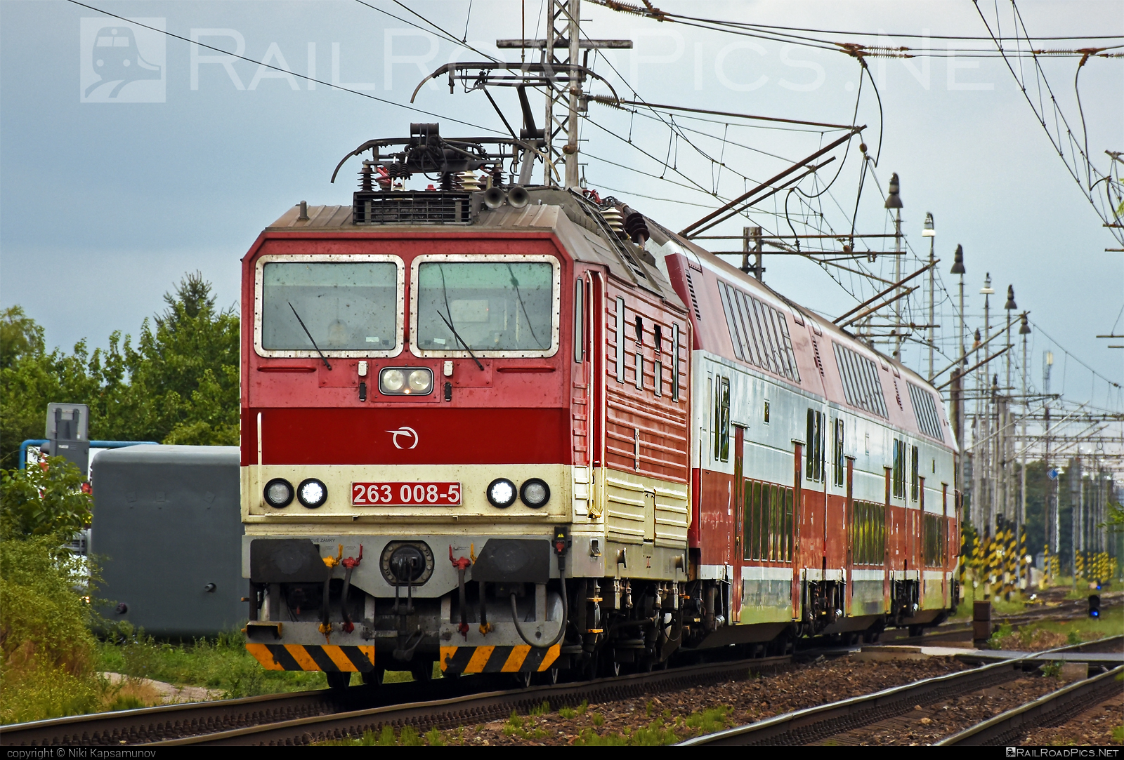 Škoda 70E - 263 008-5 operated by Železničná Spoločnost' Slovensko, a.s. #ZeleznicnaSpolocnostSlovensko #locomotive263 #princezna #skoda #skoda70e #zssk