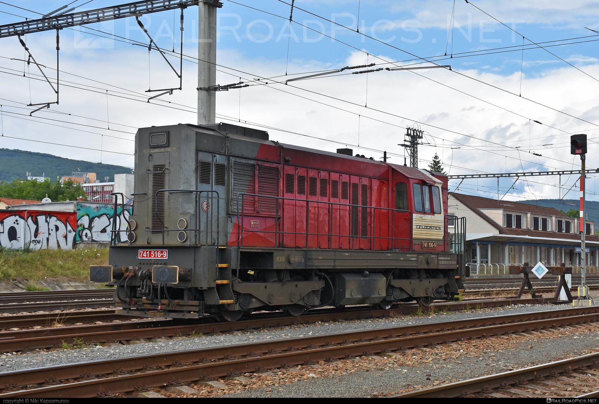 CZ LOKO Class 741.5 - 741 516-9 operated by CZ Logistics, s.r.o. #czlogistics #czloko #czloko7415 #czlokoas #kocur #locomotive7415