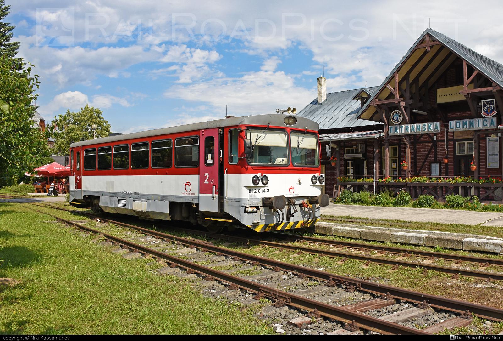ŽOS Zvolen Class 812 - 812 014-3 operated by Železničná Spoločnost' Slovensko, a.s. #ZeleznicnaSpolocnostSlovensko #bageta #zoszvolen #zoszvolen812 #zssk