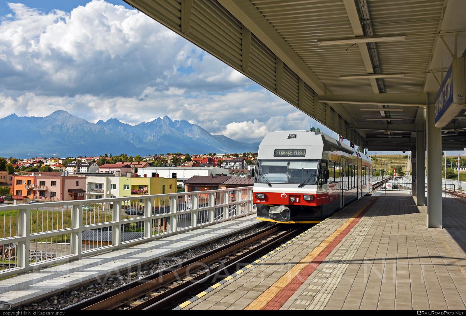 GTW Vysoké Tatry Class 425.95 - 425 955-2 operated by Železničná Spoločnost' Slovensko, a.s. #ZeleznicnaSpolocnostSlovensko #gtw26 #gtwvysoketatry #tetrapack #tez #zssk #zssk425 #zssk42595