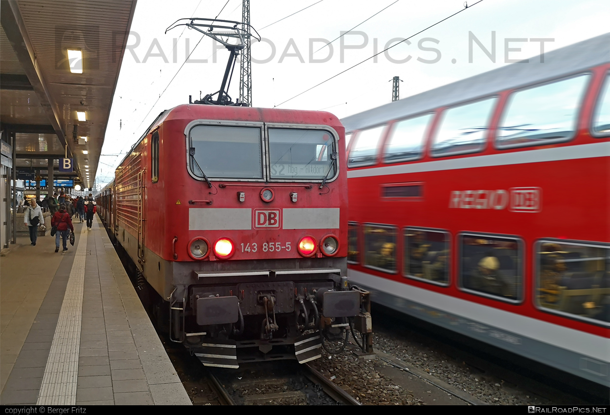 LEW Hennigsdorf DR Class 243 - 143 855-5 operated by Deutsche Bahn / DB AG #db #dbclass143 #deutschebahn #drclass243 #hansbeimler #lewhennigsdorf #locomotive143