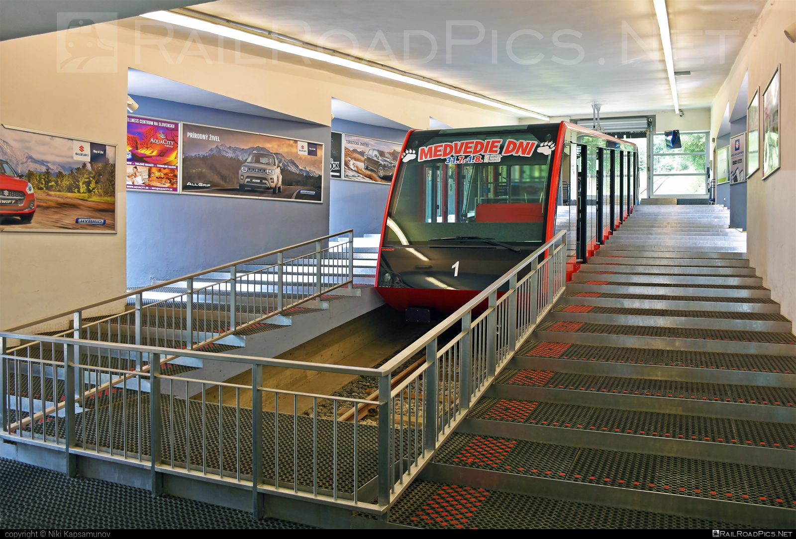 Gangloff TLD funicular car - 1 operated by Tatry mountain resorts, a.s. #TatryMountainResorts #funicular #funicularcablecar #gangloff #ganglofftld #tmr