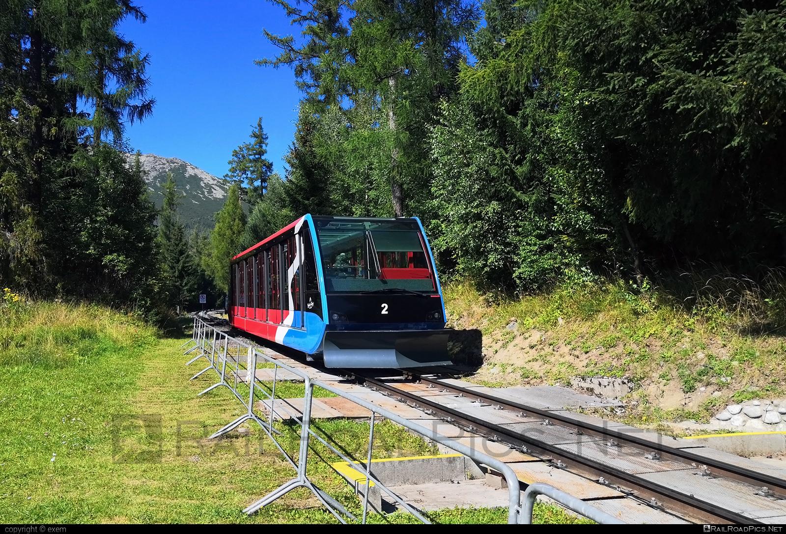 Gangloff TLD funicular car - 2 operated by Tatry mountain resorts, a.s. #TatryMountainResorts #gangloff #ganglofftld #tmr