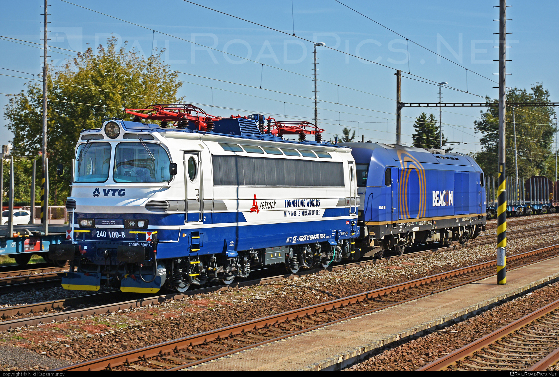 Škoda 47E - 240 100-8 operated by Retrack Slovakia s. r. o. #laminatka #locomotive240 #retrack #retrackslovakia #skoda #skoda47e #vtg #vtgsk