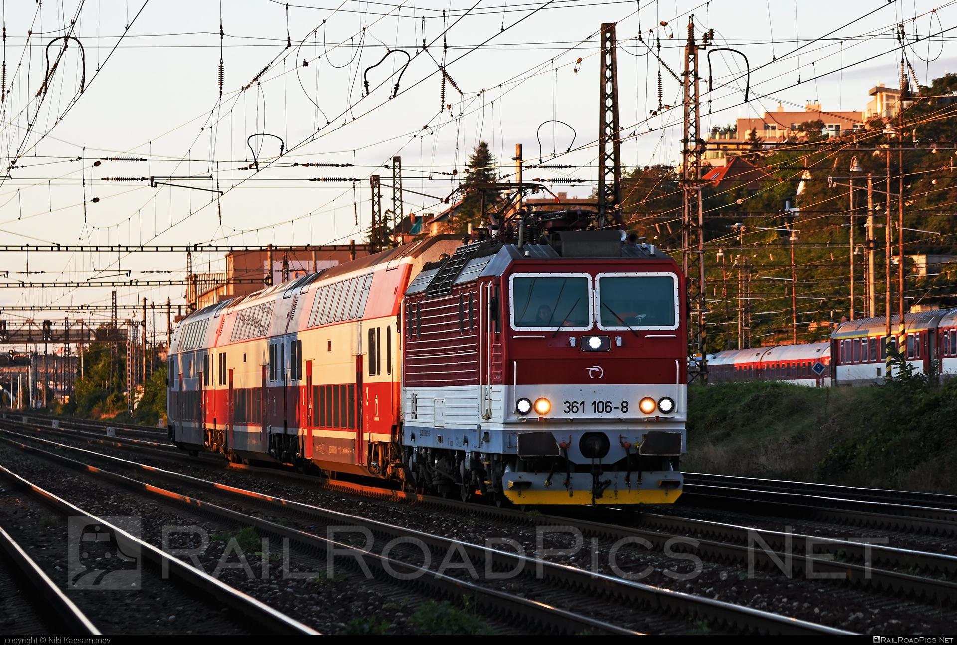 ŽOS Vrútky Class 361.1 - 361 106-8 operated by Železničná Spoločnost' Slovensko, a.s. #ZeleznicnaSpolocnostSlovensko #locomotive361 #locomotive3611 #zosvrutky #zssk