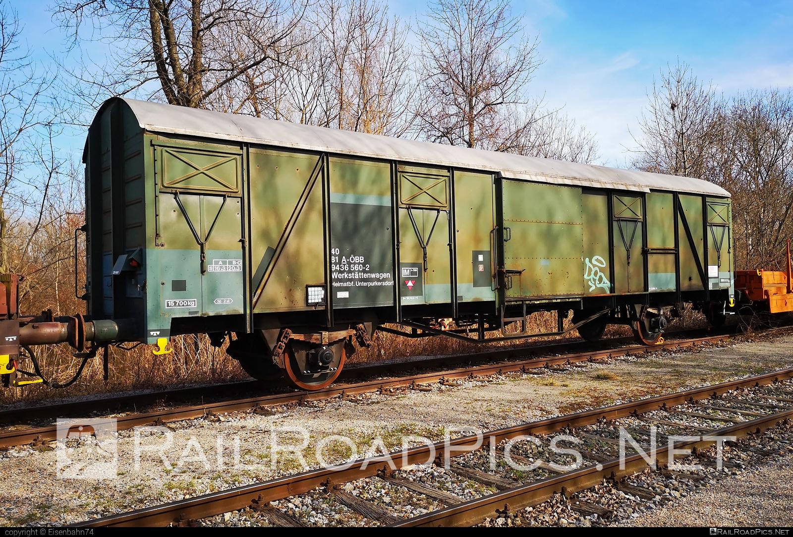 Class G - ÖBB workshop car - 40 81 9436 560-2 operated by Rail Cargo Austria AG #obb #osterreichischebundesbahnen #swietelsky #workshopcar