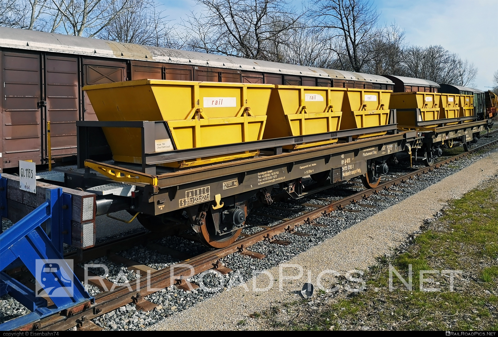 Class Unknown - Unknown - Trough trolley wagon - 40 81 9419 090-1 operated by Eurailpool GmbH #eurailpool #railtransportservicegmbh #rts #rtsrailtransportservice #swietelsky