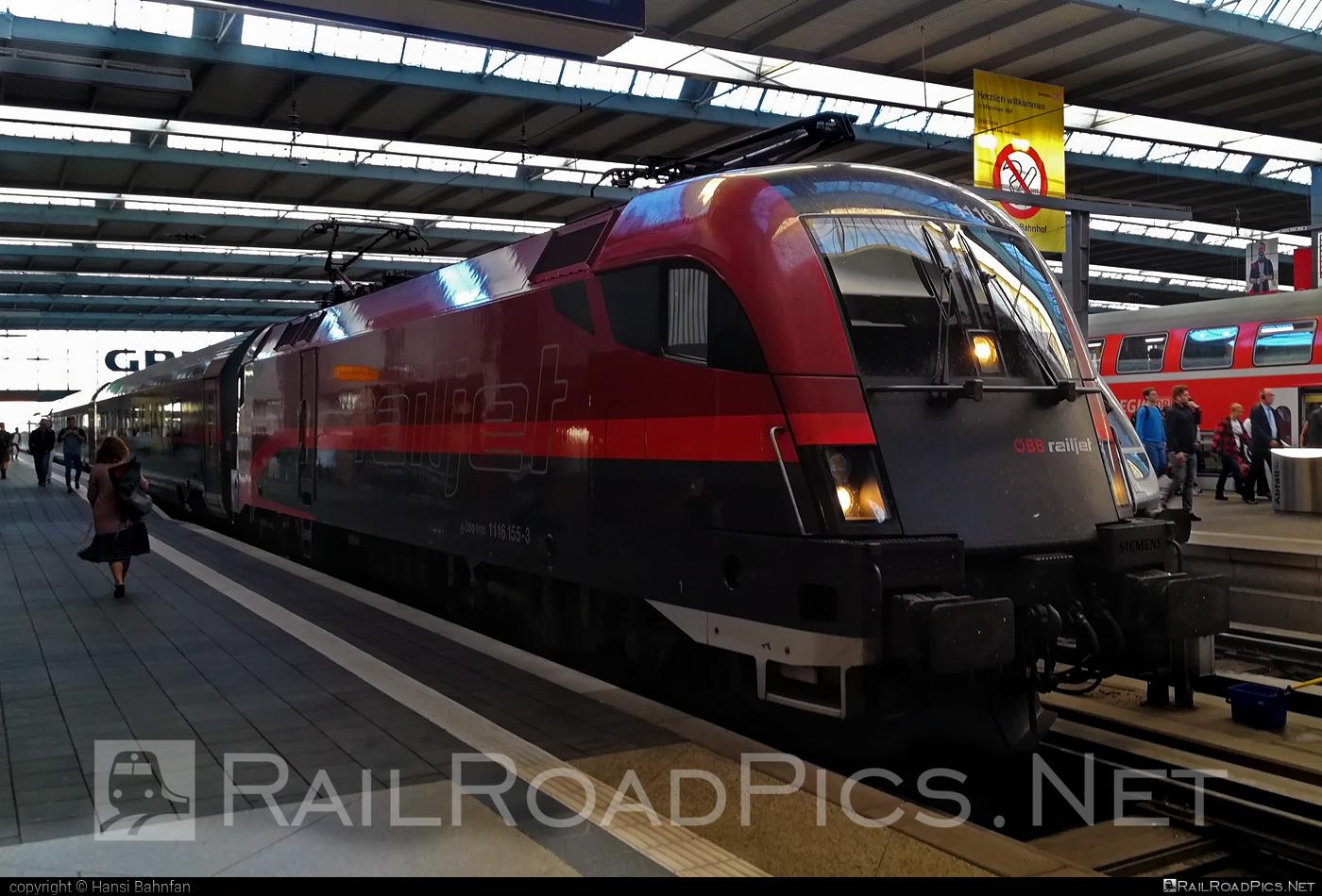 Siemens ES 64 U2 - 1116 155 operated by Österreichische Bundesbahnen #es64 #es64u #es64u2 #eurosprinter #obb #obbrailjet #osterreichischebundesbahnen #railjet #siemens #siemenses64 #siemenses64u #siemenses64u2 #siemenstaurus #tauruslocomotive