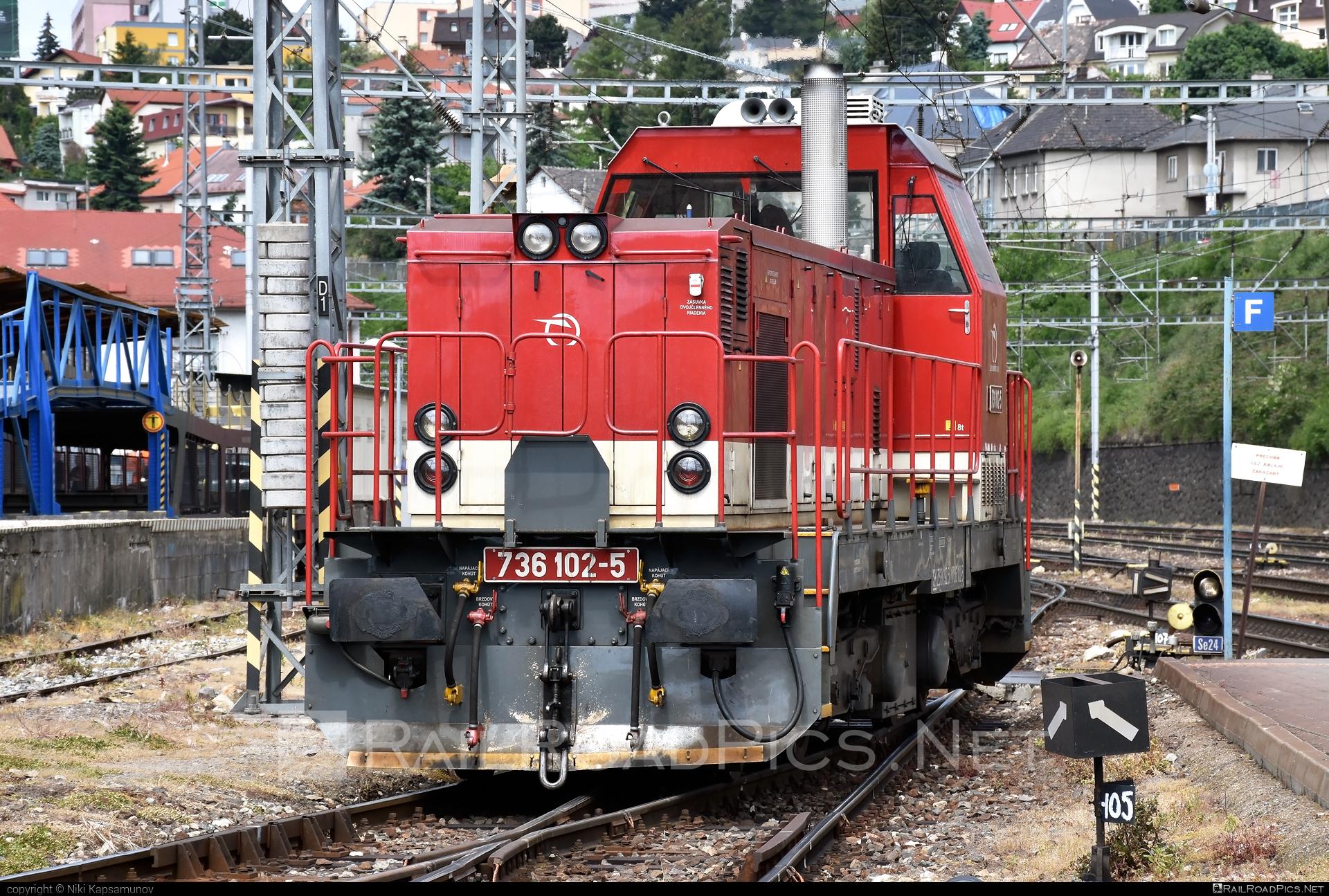ŽOS Zvolen 736 - 736 102-5 operated by Železničná Spoločnost' Slovensko, a.s. #ZeleznicnaSpolocnostSlovensko #locomotive736 #zoszvolen #zoszvolen736 #zssk