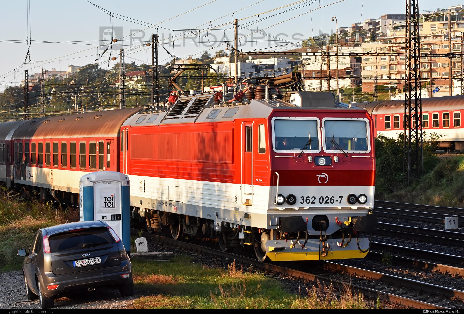 Škoda 69Er - 362 026-7 operated by Železničná Spoločnost' Slovensko, a.s. #ZeleznicnaSpolocnostSlovensko #eso #locomotive362 #rychleeso #skoda #skoda69er #zssk