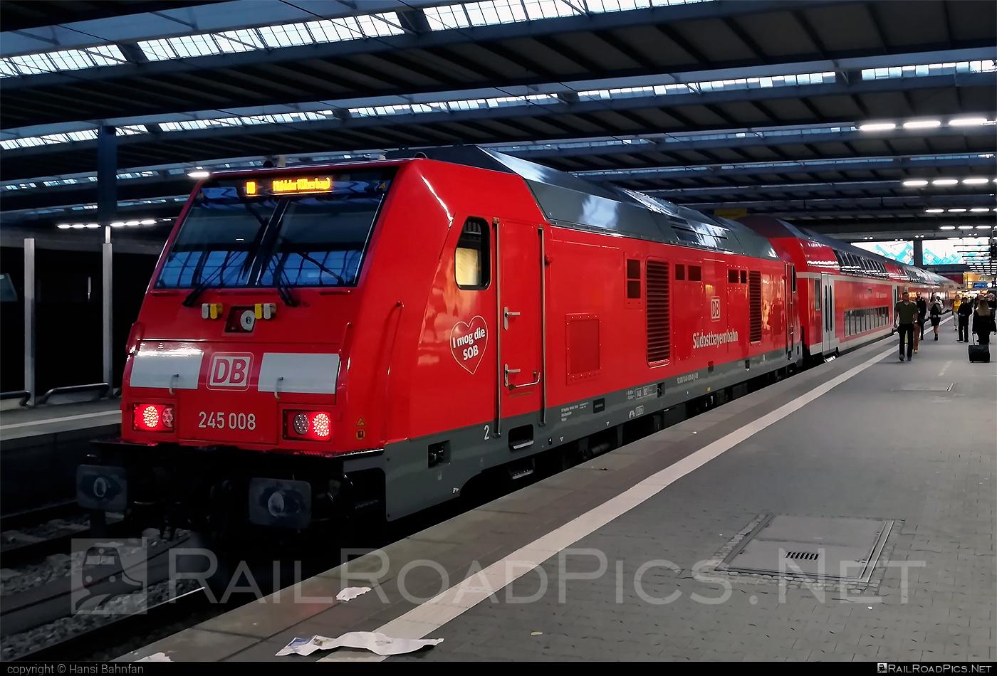 Bombardier TRAXX P160 DE - 245 008 operated by Deutsche Bahn / DB AG #bombardier #bombardiertraxx #db #dbregio #deutschebahn #sudostbayernbahn #traxx #traxxp160 #traxxp160de