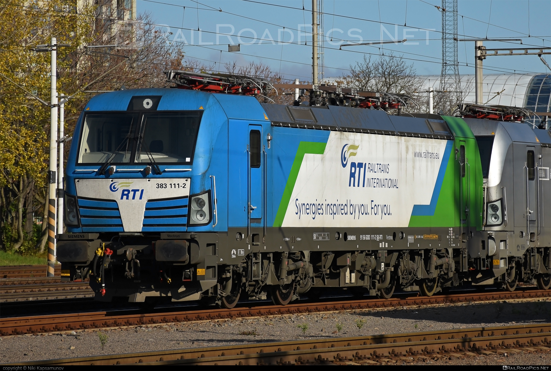 Siemens Vectron MS - 383 111-2 operated by Railtrans International, s.r.o #RailtransInternational #rti #siemens #siemensvectron #siemensvectronms #vectron #vectronms