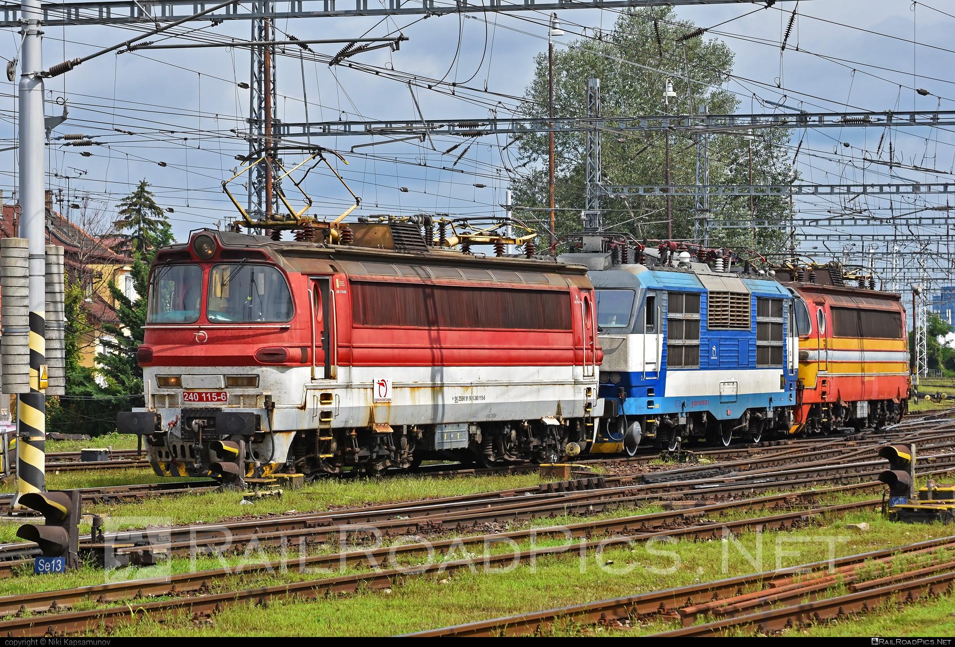 Škoda 47E - 240 115-6 operated by Železničná Spoločnost' Slovensko, a.s. #ZeleznicnaSpolocnostSlovensko #laminatka #locomotive240 #skoda #skoda47e #zssk