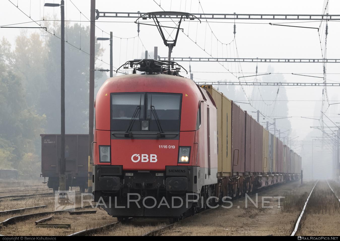Siemens ES 64 U2 - 1116 019 operated by Rail Cargo Hungaria ZRt. #es64 #es64u #es64u2 #eurosprinter #flatwagon #obb #osterreichischebundesbahnen #siemens #siemenses64 #siemenses64u #siemenses64u2 #siemenstaurus #tauruslocomotive
