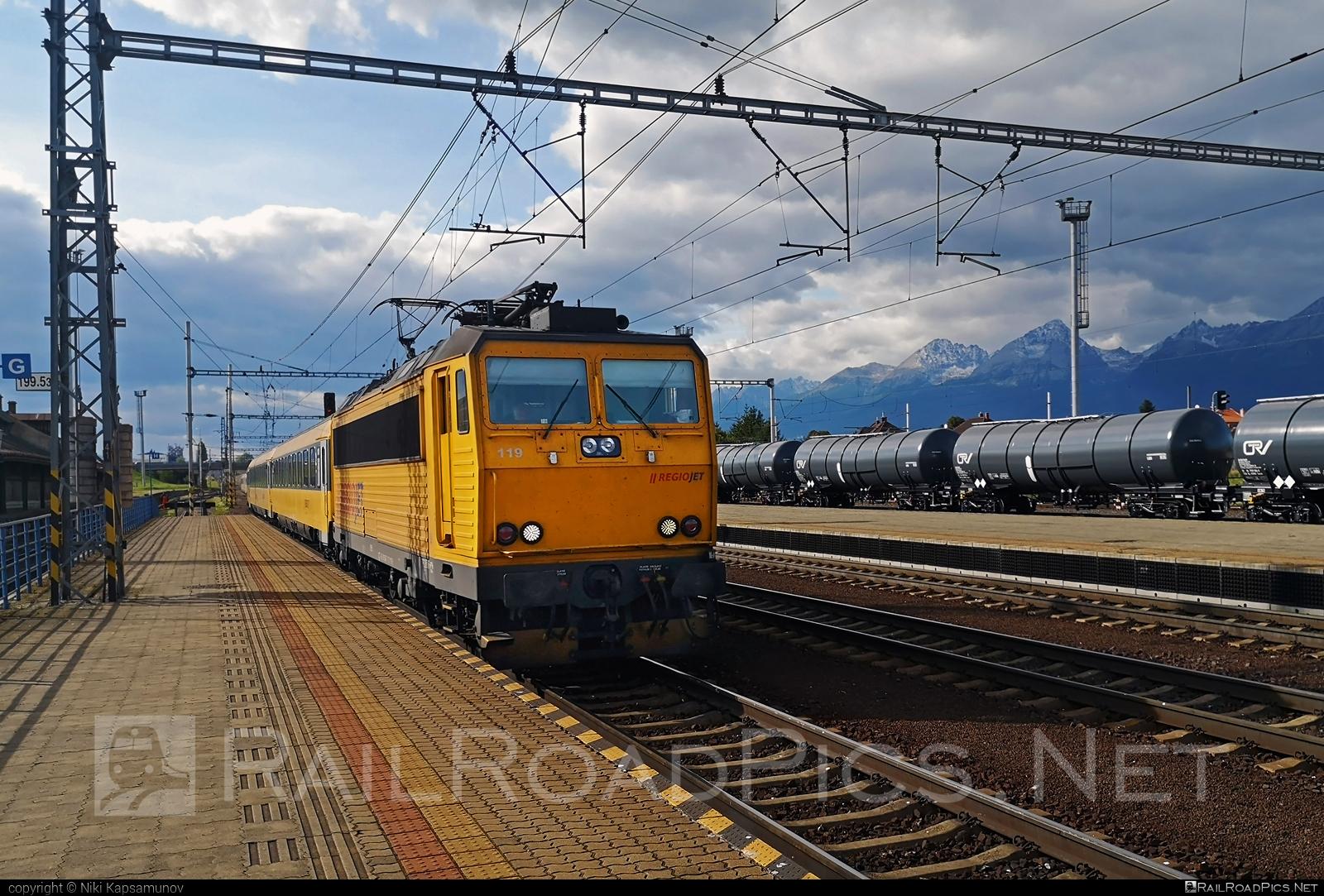 Škoda 99E - 162 119-2 operated by RegioJet, a.s. #e4993 #locomotive163 #regiojet #skoda #skoda99e