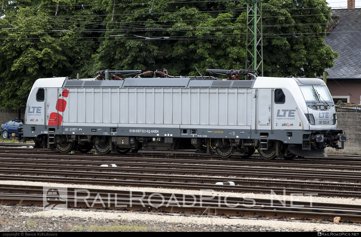Bombardier TRAXX F140 AC3 - 187 522-8 operated by LTE Hungária Vasúti Árufuvarozó és Logisztikai Kft. #akiem #akiemsas #bombardier #bombardiertraxx #traxx #traxxf140 #traxxf140ac #traxxf140ac3