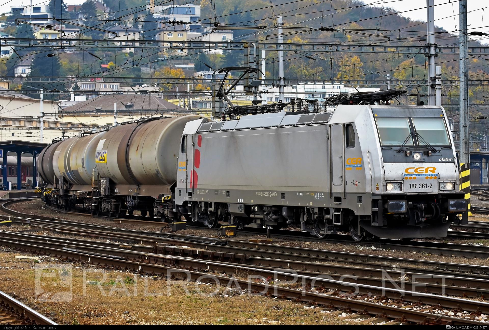 Bombardier TRAXX F140 MS - 186 361-2 operated by CER Cargo Holding SE #akiem #akiemsas #bombardier #bombardiertraxx #cercargoholding #cercargoholdingse #kesselwagen #millet #tankwagon #traxx #traxxf140 #traxxf140ms